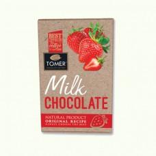 """Молочный шоколад с клубникой """"Томер"""" (90г)"""
