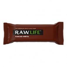 """Орехово-фруктовый батончик Какао-Мята """"RAW Life"""" (47г)"""