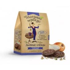 """Хлебцы льняные с сушеным луком """"Полезный перекус"""" (100г)"""