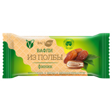 """Вафли из полбы с начинкой """"ВастЭко"""" Финик (30г)"""