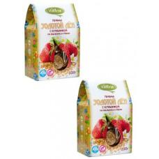 Печенье Vitlen Золотой Лён с клубникой на мальтите и стевии (200г)