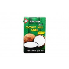 """Кокосовое молоко натуральное без сахара """"Aroy-D"""" (250мл)"""