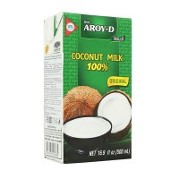 """Кокосовое молоко натуральное без сахара """"Aroy-D"""" (500мл)"""