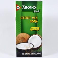 """Кокосовое молоко натуральное без сахара """"Aroy-D"""" (1л)"""
