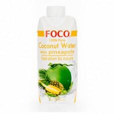 """Кокосовая вода с соком ананаса """"Foco"""" (330мл)"""